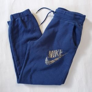 Nike navy sweatpant jogger ankle women's size S
